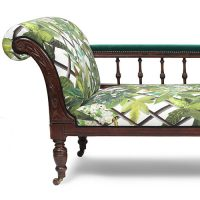Christian Lacroix Canopy Malachite upholstery with JAB, city Velvet arm